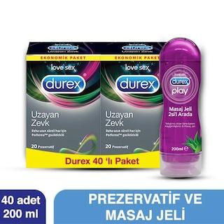 Durex Uzayan Zevk 40lı+Durex Kayganlaştırıcı 200 ml