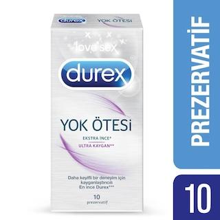 Durex Yok Ötesi Ultra Kaygan Prezervatif, 10'lu