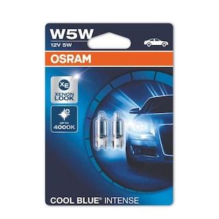 Osram Cool Blue Intense T10 Dipsiz Ampül 3700k W5w 12v 5w 2 Adet