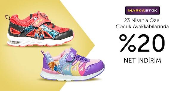 Markastok Çocuk Ayakkabılarda %20 Net İndirim