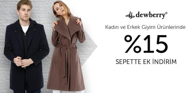 Dewberry Kadın ve Erkek Giyim Ürünlerinde %15 Sepette Ek İndirim