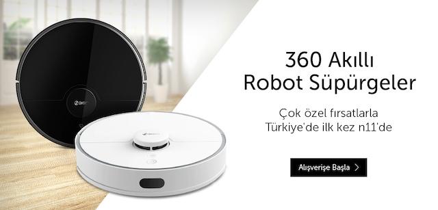 360 Marka Robot Süpürgelerde Fırsatlar - n11.com