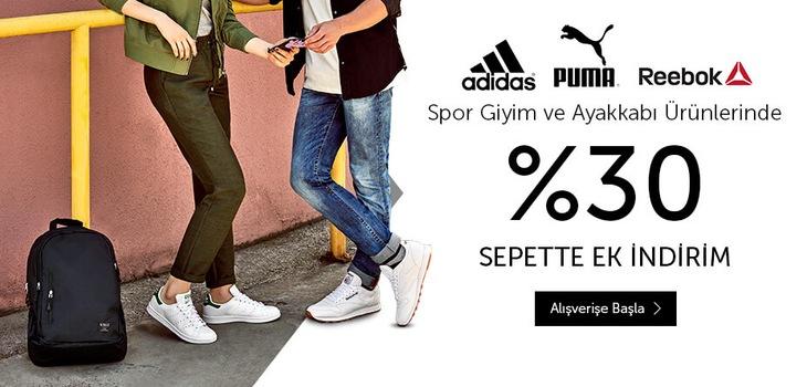Adidas, Reebok, Puma