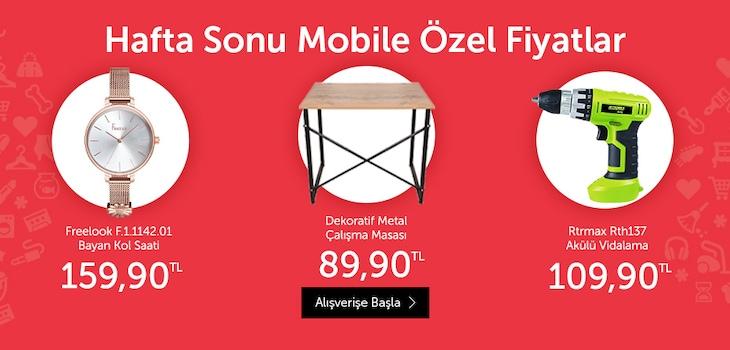 Haftasonu Mobile Özel Ürünler Promosyonu