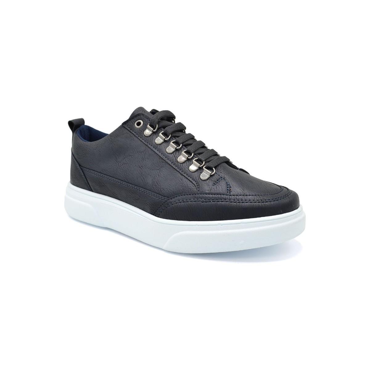 L.A. Polo 104 Lacivert Renk Beyaz Taban Erkek Spor Ayakkabı