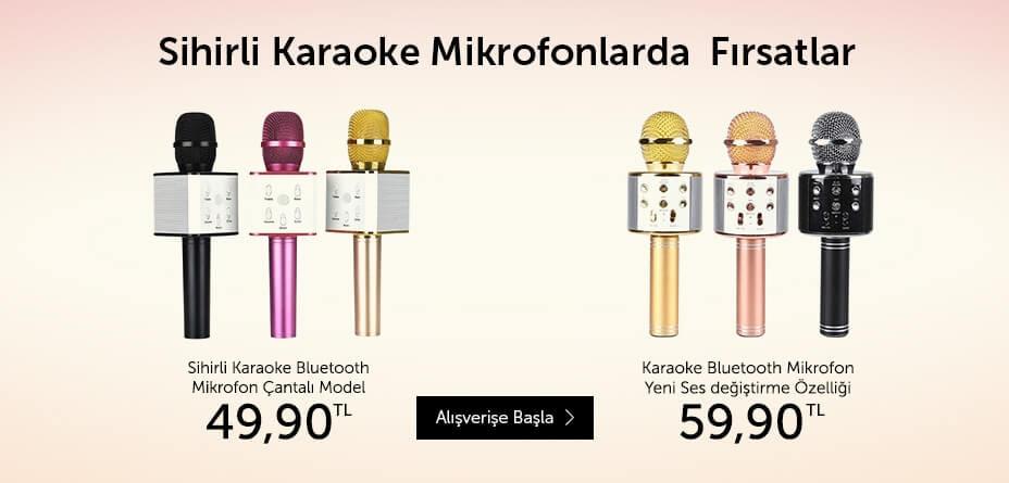 Sihirli Karaoke Mikrofonlarda Fırsatlar