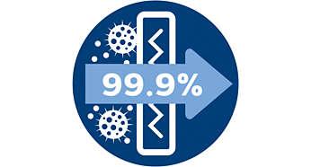 %99,9 oranında filtreleme için alerji filtresi