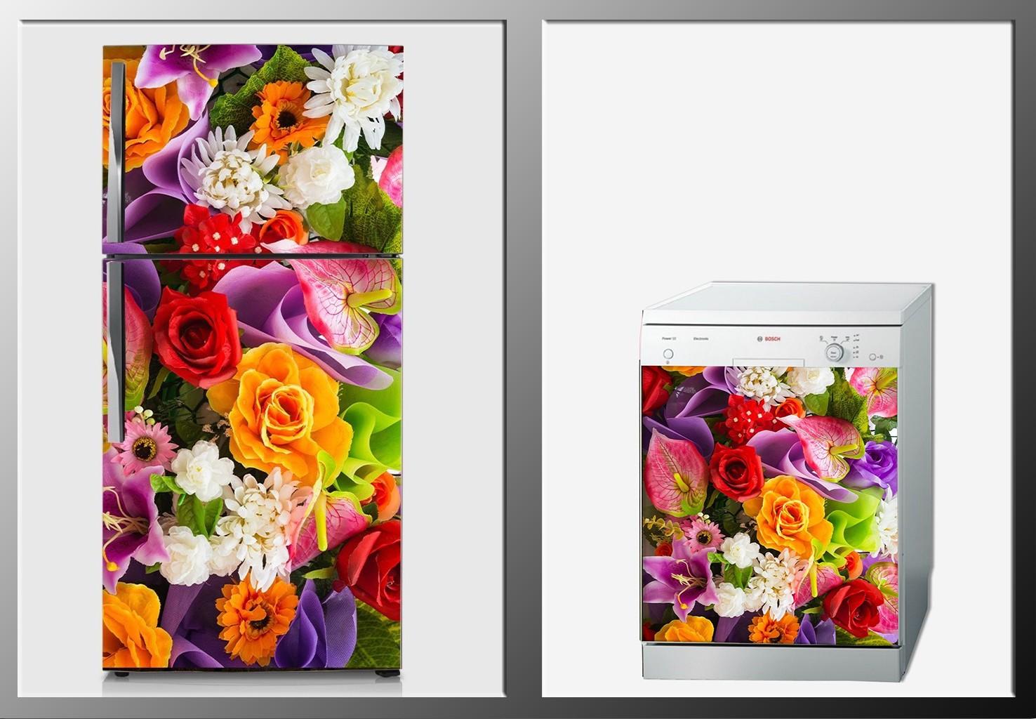ArtWall Beyaz Eşya Çiçek Sticker