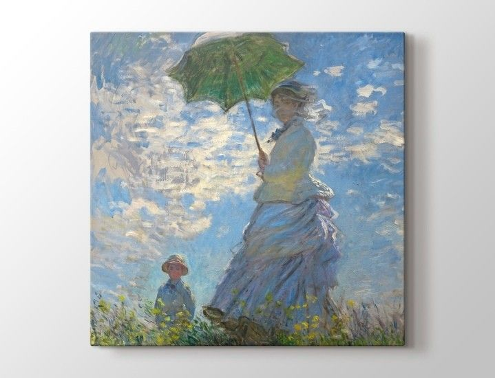 Claude Monet - Madame Monet and Her Son Tablo