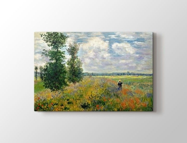 Claude Monet - Poppy Field Argenteuil Tablo