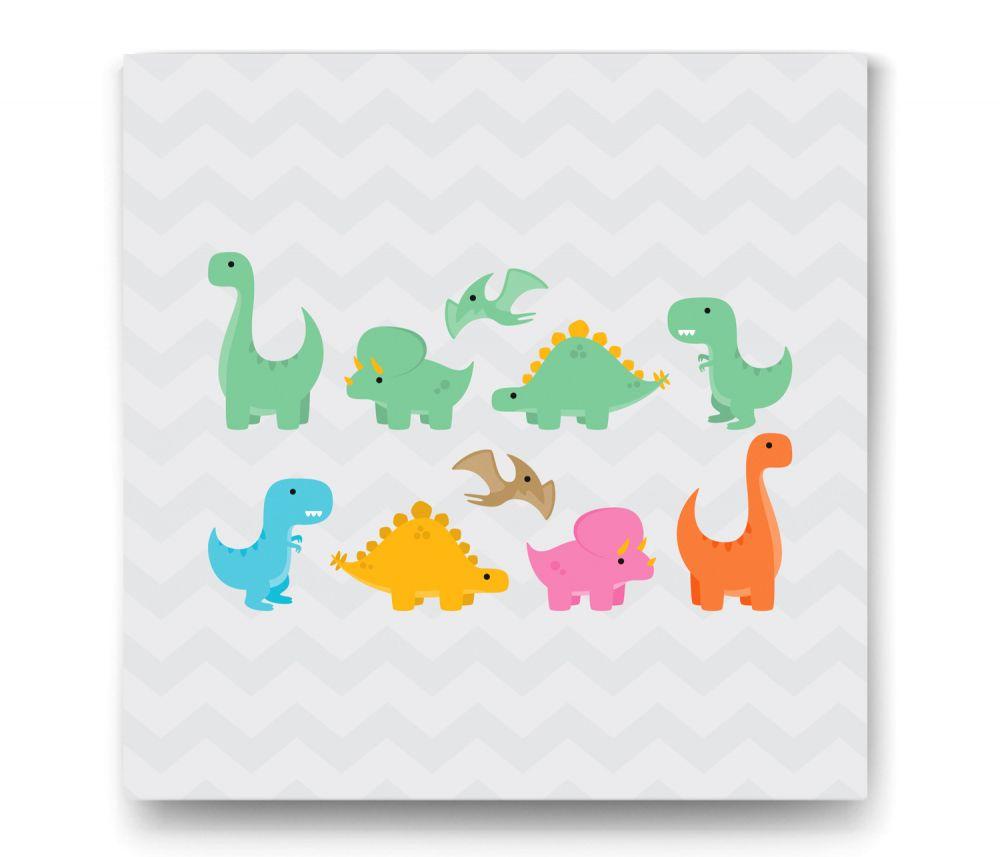 Dinozor Figürlü Tablo
