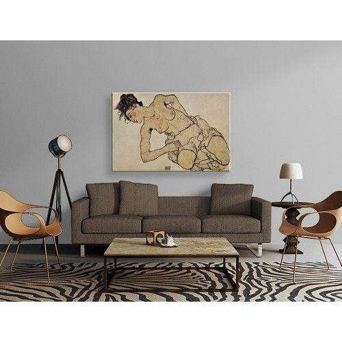 Egon Schiele - Knielende Halfnaakte Tablo