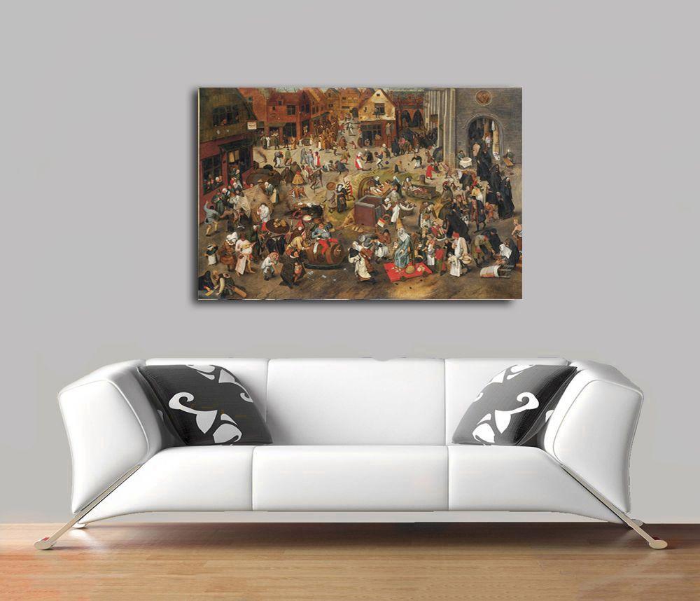Pieter Bruegel -  The Fight Between Carnival and Lent Tablo