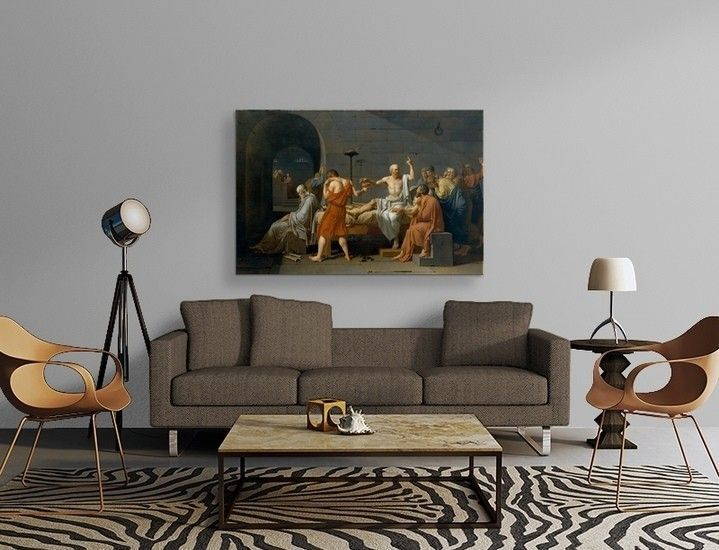 Jacques-Louis David - The Death Of Socrates Poster